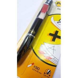 Ручка с индексами 150шт 9,5 х 43мм 3М 689Р, черный - Officedom (3)