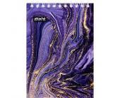 Блокнот на спирали Attache Selection Fluid, карт. обложка+УФ-лак, А6, 80 л., фиолетовый, клетка | OfficeDom.kz