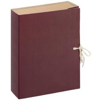 Папка архивная с завязками Attache Economy, 80 мм, картон/<wbr>бумвинил, бордовый - Officedom (1)