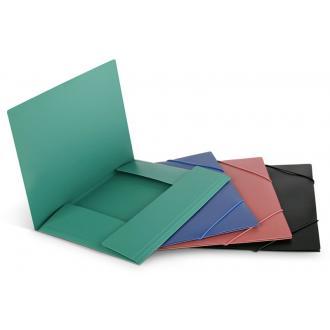 Папка для бумаг с резинками РР А4, зеленый - Officedom (1)