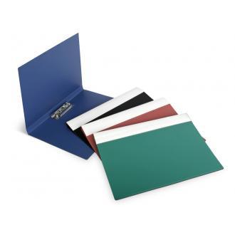 Папка для бумаг с прижимом РР А4, зеленый - Officedom (1)