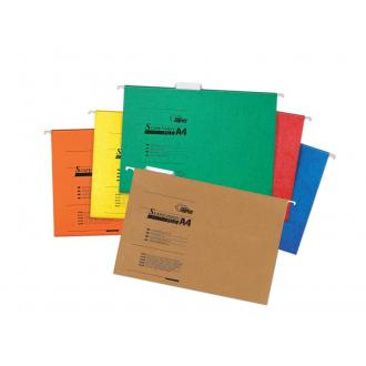 Папка подвесная для бумаг А4+, без вставок, синий - Officedom (1)