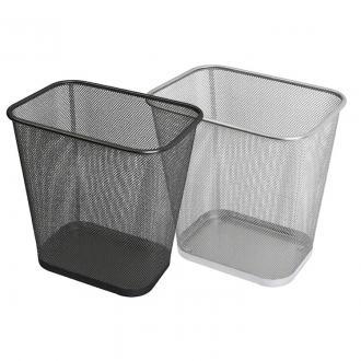 Корзина для мусора металлическая, 31x22,5x30 см, черный - Officedom (1)