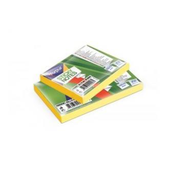 Клейкие листки 50х75мм, 80л, неон. желтый - Officedom (1)