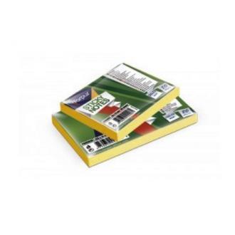 Клейкие листки 125х75мм, 80л, неон. желтый - Officedom (1)