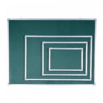 Доска настенная магнитно-меловая, 60 х 90 см, в алюм. рамке, с подставкой, зеленый - Officedom (1)