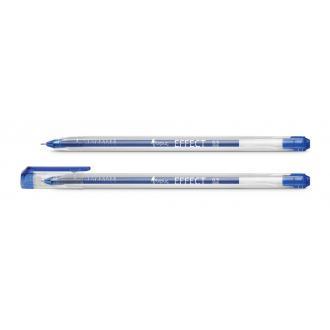 Ручка гелевая Forpus Effect, 0,5 мм, треугольный прозрачный корпус, синий - Officedom (1)