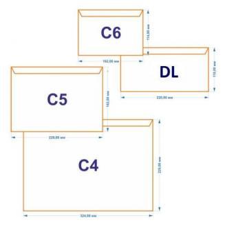 Конверт С65 114х229мм с отр. полосой, по длинной стороне, 80 г/<wbr>м2, белый - Officedom (1)