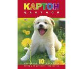 Картон цветной Hatber VK Белый щенок А4, 10л, 10цв. | OfficeDom.kz
