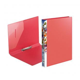 Папка на двух кольцах Forofis, А4, ширина 20 мм, 0,75 мм, ПП, красный - Officedom (1)