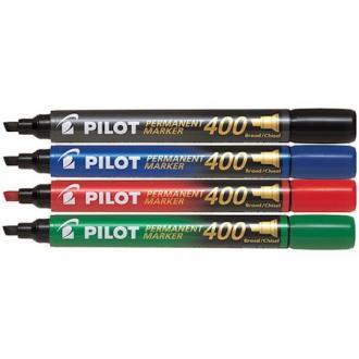 Маркер перманентный Pilot SCA-400 скошенный наконечник 1-4 мм, черный - Officedom (1)