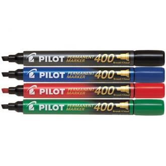 Маркер перманентный Pilot SCA-400 скошенный наконечник 1-4 мм, красный - Officedom (1)