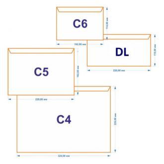 Конверт С4 229х324мм с отр. полосой по короткой стороне, 90 гр., белый - Officedom (1)