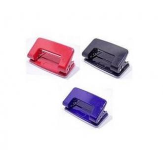 Дырокол без линейки DL8230, до 10 л., ассорти (красный, синий, черный) - Officedom (1)