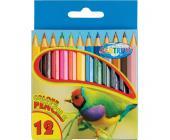 Карандаши цветные наточенные Centrum ZOO, длина 88 мм, 12 цв., картон. упаковка | OfficeDom.kz