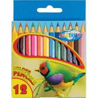 Карандаши цветные наточенные Centrum ZOO, длина 88 мм, 12 цв., картон. упаковка - Officedom (1)