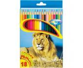 Карандаши цветные наточенные Centrum ZOO, длина 177 мм, 18 цв., картон. упаковка | OfficeDom.kz
