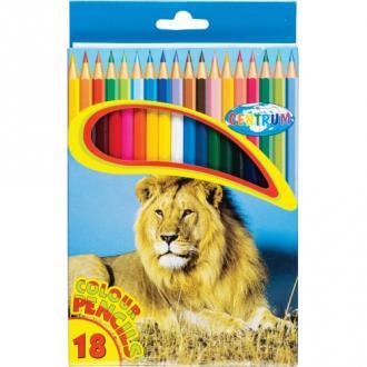 Карандаши цветные наточенные Centrum ZOO, длина 177 мм, 18 цв., картон. упаковка - Officedom (1)