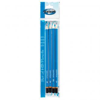 Набор из 4-х простых карандашей Centrum: 2H, 2B, HB, HB в ПВХ упаковке - Officedom (1)
