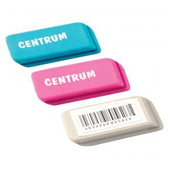 Стирательная резинка Centrum, синтетический каучук, 46x20x8 мм, ассорти - Officedom (1)