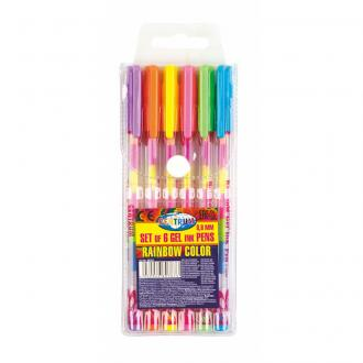 Набор гелевых ручек Centrum RAINBOW, 0,8 мм, 6 цветов (стержень 6в1) - Officedom (1)