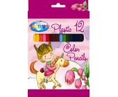Карандаши цветные наточенные Centrum UNICORN, пластиковые, длина 88 мм, 12 цв., картон. упаковка | OfficeDom.kz