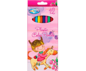 Карандаши цветные наточенные Centrum UNICORN, пластиковые, длина 177 мм, 12 цв., картон. упаковка | OfficeDom.kz