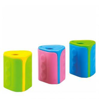 Точилка пластиковая Centrum, с 1 лезвием, с контейнером для мусора, ассорти - Officedom (1)