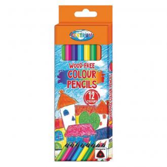 Карандаши цветные наточенные Centrum, пластиковые, трехгранные, 12 цв., картон. упаковка - Officedom (1)