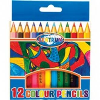 Карандаши цветные наточенные Centrum, длина 88 мм, 12 цв., картон. упаковка - Officedom (1)