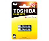Батарейки Toshiba High Power, AAA/LR03 GCP BP-2, 2 шт/уп | OfficeDom.kz