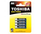 Батарейки Toshiba High Power, AAА/LR03 GCP BP-4, 4 шт/уп | OfficeDom.kz