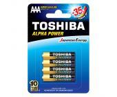 Батарейки Toshiba Alfa Power, AAA/LR03 GCH BP-4, 4 шт/уп | OfficeDom.kz