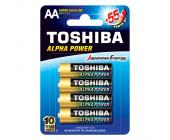Батарейки Toshiba Alfa Power, AA/LR6 GCH BP-4, 4 шт/уп | OfficeDom.kz