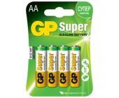 Батарейки GP Super Alkaline, AA/LR6, 4 шт/уп | OfficeDom.kz