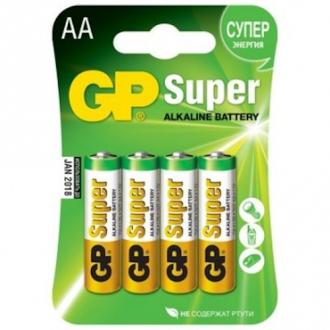 Батарейки GP Super Alkaline, AA/<wbr>LR6, 4 шт/<wbr>уп - Officedom (1)