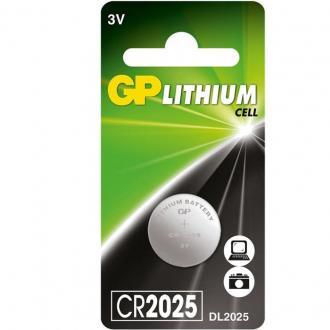 Батарейки GP Lithium CR2025, 3V, 1 шт/<wbr>уп - Officedom (1)