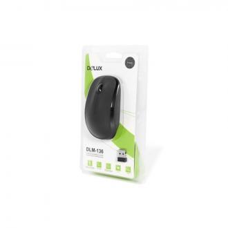 Мышь компьютерная беспроводная Delux DLM-1360GB, USB, черный - Officedom (1)