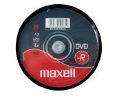 Диски записываемые DVD-R MAXELL 47 16X25S, 25 шт на шпинделе | OfficeDom.kz