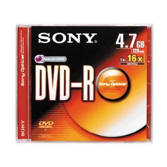 Диск записываемый DVD+R Sony, 16X4.7GB, Slim - Officedom (1)