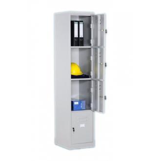 Шкаф-Локер Оман LC-4, 1830x380x457 мм, 4 секции, сер - Officedom (1)