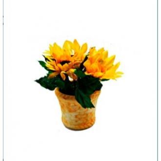 """Цветы искусственные """"Подсолнухи в горшке"""" - Officedom (1)"""