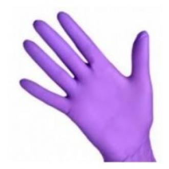 Перчатки нитриловые, неопудренные, S-размер, сиреневый, 100 шт/<wbr>упак (UN) - Officedom (1)