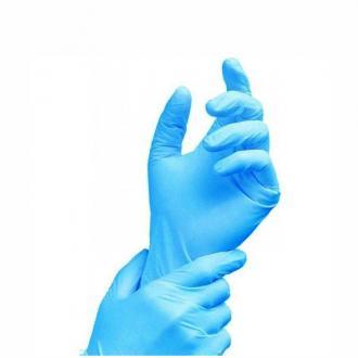 Перчатки нитриловые, неопудренные, M-размер, голубой, 100 шт/<wbr>упак (UN) - Officedom (1)