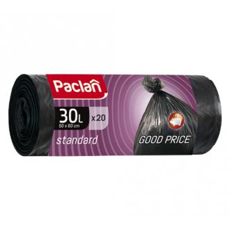 Мешки для мусора Paclan Standart 30л.; 20шт/<wbr>уп, прочные, черный - Officedom (1)