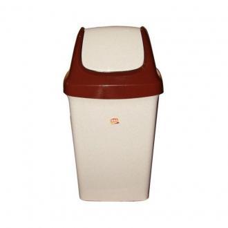 Бак для мусора с плав. крышкой Свинг, 25 л., беж. мрамор (М2463) - Officedom (1)