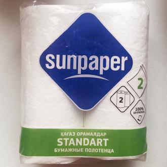 Бумажные полотенца для кухни Sunpaper Standart, 2 рул/<wbr>уп, 12,5 м, 22 см - Officedom (1)