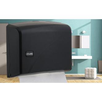 Диспенсер для листовых бумажных полотенец Z укладки Vialli K1В черный - Officedom (1)