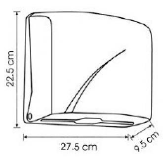 Диспенсер для листовых бумажных полотенец Z укладки Vialli K1В черный - Officedom (2)