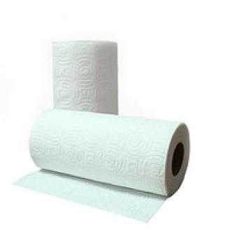 Бумажные полотенца для кухни Love, 2 рул/<wbr>уп, 12,5м, 20,5см, длина листа 11,5см - Officedom (1)